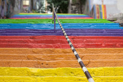 Rainbow stairs Stock Photography