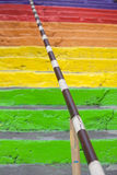 Rainbow stairs Royalty Free Stock Photography
