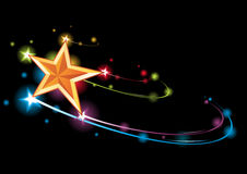 Rainbow star Royalty Free Stock Photography