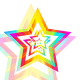 Rainbow star background Stock Photography