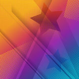 Rainbow and star background. Colorful dot background and star Royalty Free Stock Photos