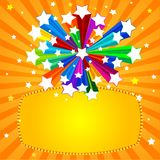Rainbow Star Banner Stock Photography