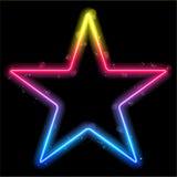 Rainbow Star Border with Sparkles Stock Image