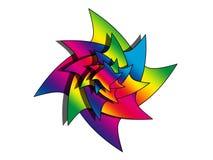 Rainbow star logo. Abstract star logo with rainbow colors isolated royalty free illustration