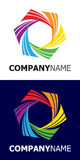 Rainbow star logo element royalty free illustration