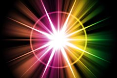 Rainbow Star Sunburst Abstract Stock Photos
