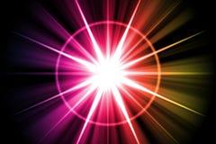 Rainbow Star Sunburst Abstract Stock Photo