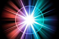Rainbow Star Sunburst Abstract Stock Images
