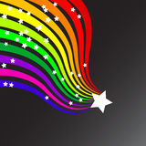 Rainbow Star Vector Stock Photo