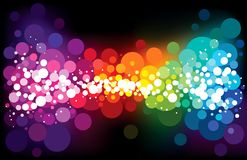 Rainbow stardust Royalty Free Stock Images