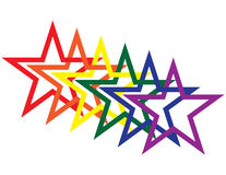 Rainbow Stars Stock Photo