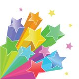 Rainbow stars. Stars 3d vector illustration rainbow color isolated on white background royalty free illustration