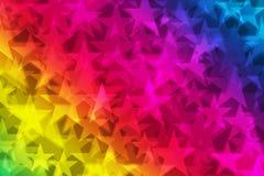 Rainbow stars Stock Photo