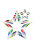 Rainbow Stars. In different colors Stock Photography
