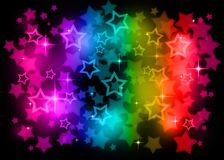 Rainbow stars. Stars on a rainbow background Royalty Free Stock Photos