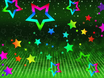 Rainbow Stars Background Shows Heavens And Astronomy Stock Photography