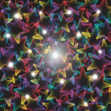 Rainbow stars with lights Royalty Free Stock Photography