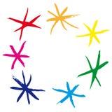 Rainbow stars (vector) Stock Photo