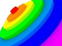 Rainbow stepping cascade circle Royalty Free Stock Photo