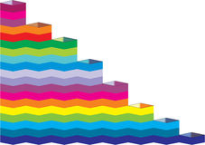 Rainbow steps Royalty Free Stock Images