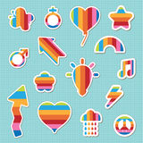 Rainbow stickers Royalty Free Stock Photography