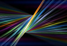 Rainbow sticks on black background Stock Images