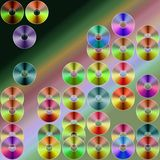 Rainbow storage. CDs illustration Royalty Free Stock Photos