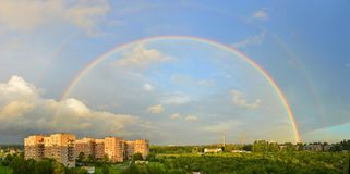 Rainbow after the storm Stock Photography