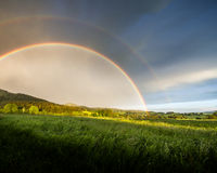 Rainbow after storm Royalty Free Stock Photos