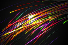 Rainbow straight Diagonal Line Glow Dark Background Stock Photo