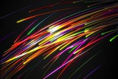 Rainbow straight Diagonal Line Glow Dark Background Stock Photo