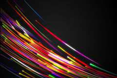Rainbow straight Diagonal Line Glow Dark Background Royalty Free Stock Image