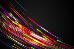 Rainbow straight Diagonal Line Glow Dark Background. Digital art Royalty Free Stock Image