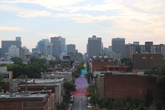 Rainbow Street, Cityscapes of Montreal Stock Photography
