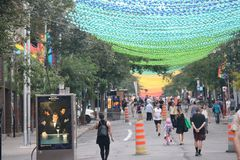 Rainbow Street, Village Montreal royalty free stock photo