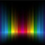 Rainbow stripe dark background Stock Photos