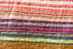 Rainbow striped fabric Royalty Free Stock Images