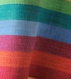 Rainbow striped fabric Stock Photos