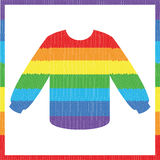 Rainbow striped sweater Stock Image