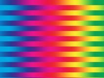 Rainbow stripes. Rainbow colored horizontal stripes stock illustration