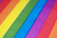 Rainbow Stripes Background. An abstract photograph of rainbow stripes Royalty Free Stock Photo