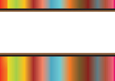 Rainbow stripes frame. In white background, vector Stock Photo