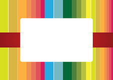 Rainbow stripes frame Royalty Free Stock Photo