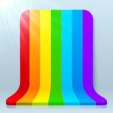 Rainbow stripes plastic vector background Stock Photo
