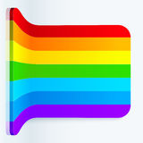 Rainbow stripes realistic plastic vector backdrop Stock Photos