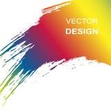 Rainbow stroke brush isolated on white vector stock illustration