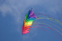 Rainbow stunt kites Stock Photos