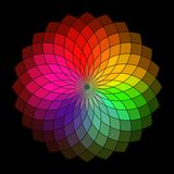 Rainbow style vector wheel Royalty Free Stock Photography