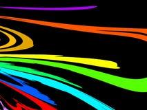 Rainbow su priorità bassa nera Fotografie Stock