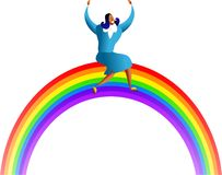 Rainbow success Stock Photography